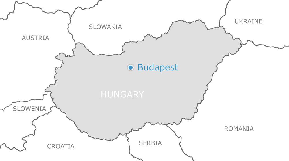 ungarn-budapest-map